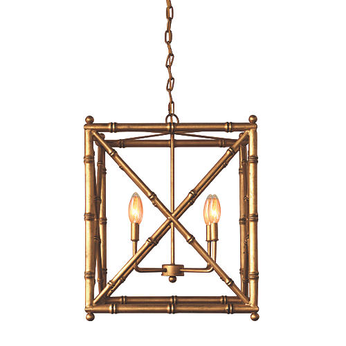 Baldwin Chandelier, Gold Leaf