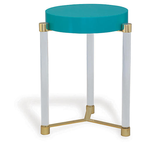 Maxwell Side Table, Teal