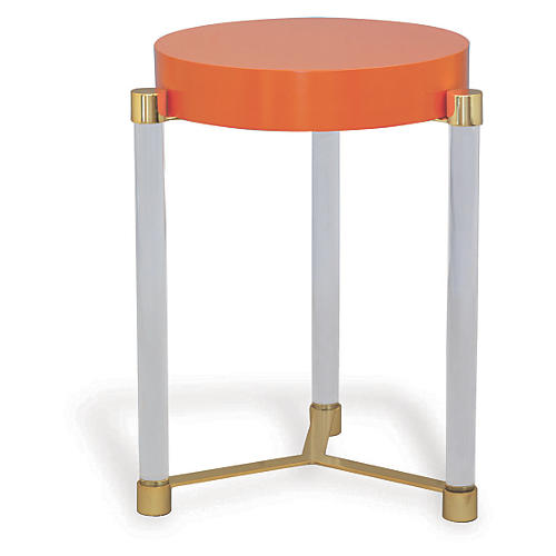 Maxwell Side Table, Orange