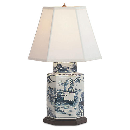 Canton Table Lamp, Blue