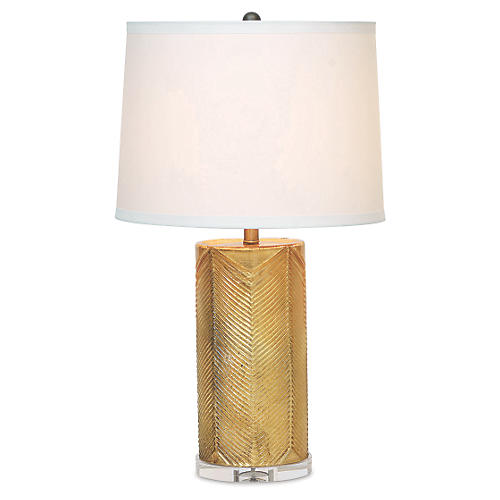 Westwood Table Lamp, Gold/Cream