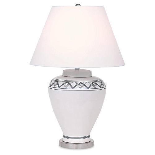 Carlyle Table Lamp, Cream
