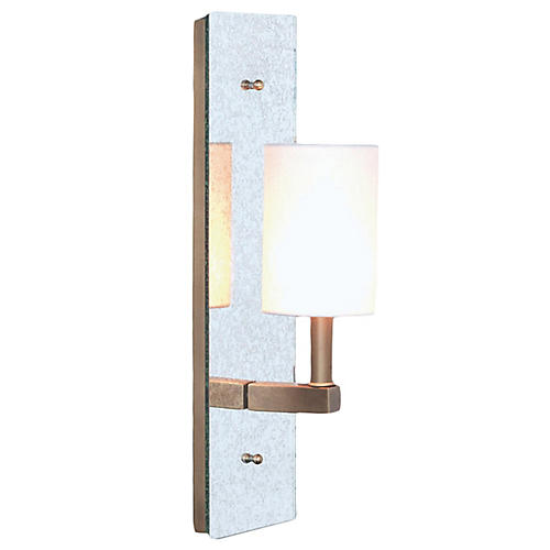 Sawyer Sconce, Antiqued Mirror/Brass