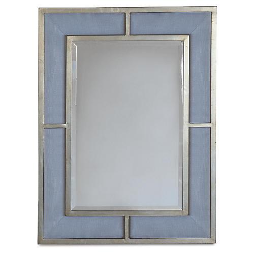 Bedford Wall Mirror, Blue/Silver