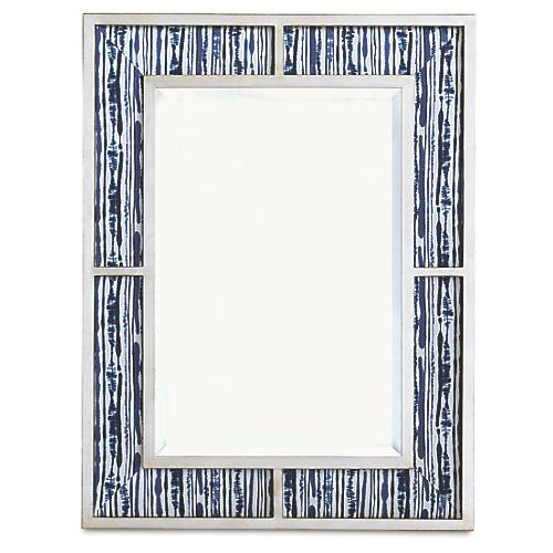 Bedford Wall Mirror, Indigo/Silver