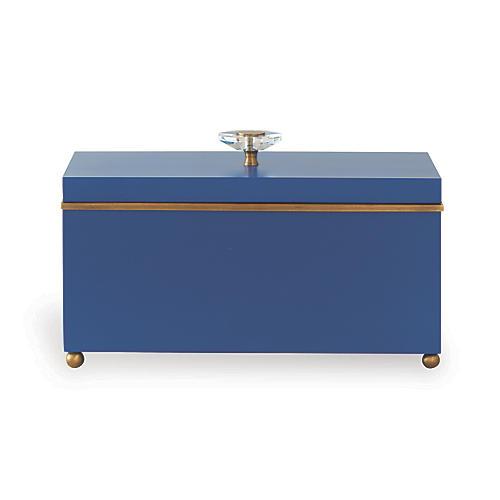 "15"" Naples Box, Blue/Brass"