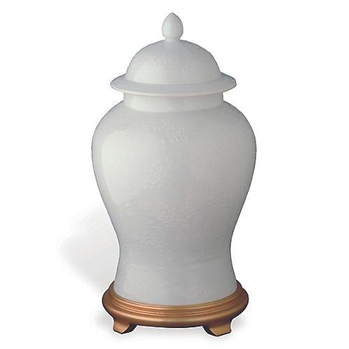 Blanc De Chine Jar, White