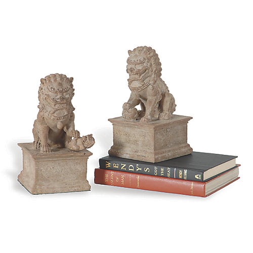 S/2 Han Dynasty Bookends, Sand