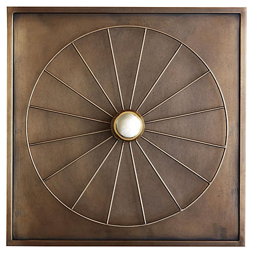 Boston Sconce, Aged Brass