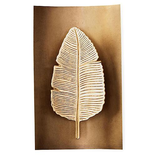Biscayne Sconce, Gold Leaf/Brass