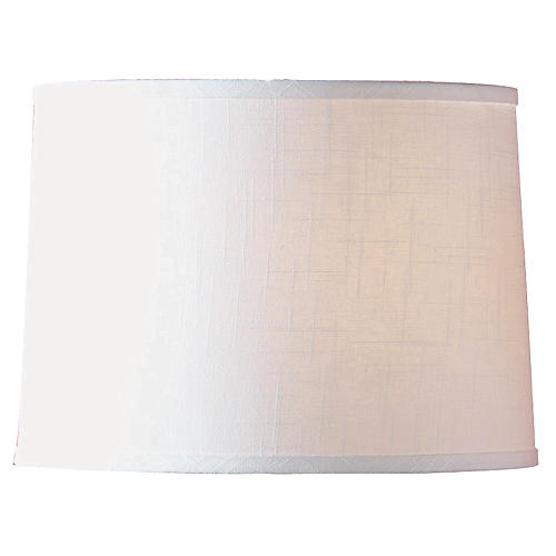 Textured Drum Lamp Shade, White