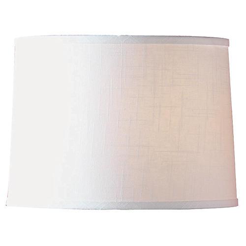 Textured Drum Lamp Shade, White