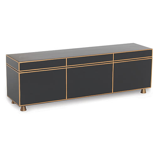 "24"" SoHo Box, Black/Gold"