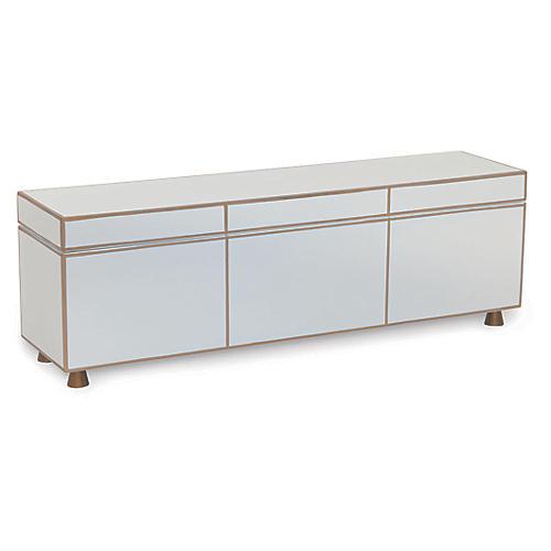 """24"""" SoHo Box, White/Gold"""