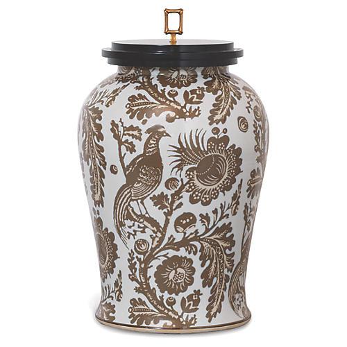 """21"""" Arcadia Jar, Taupe/Black"""