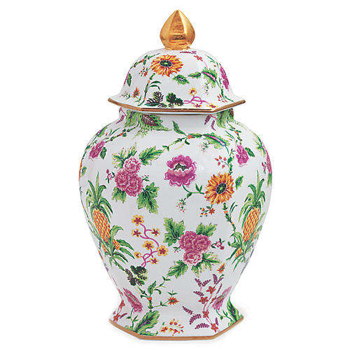 Portsmouth Pineapple Jar, Pink/Multi