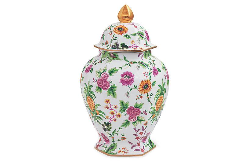 Portsmouth Pineapple Jar, Pink/Multi