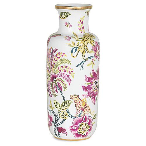 "16"" Braganza Jewel Vase, Pink/Multi"
