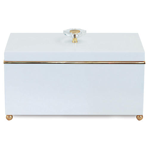 "15"" Naples Box, White/Gold"
