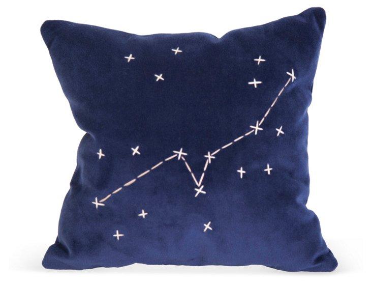 Blue Star Zodiac Signs Pillow- Taurus
