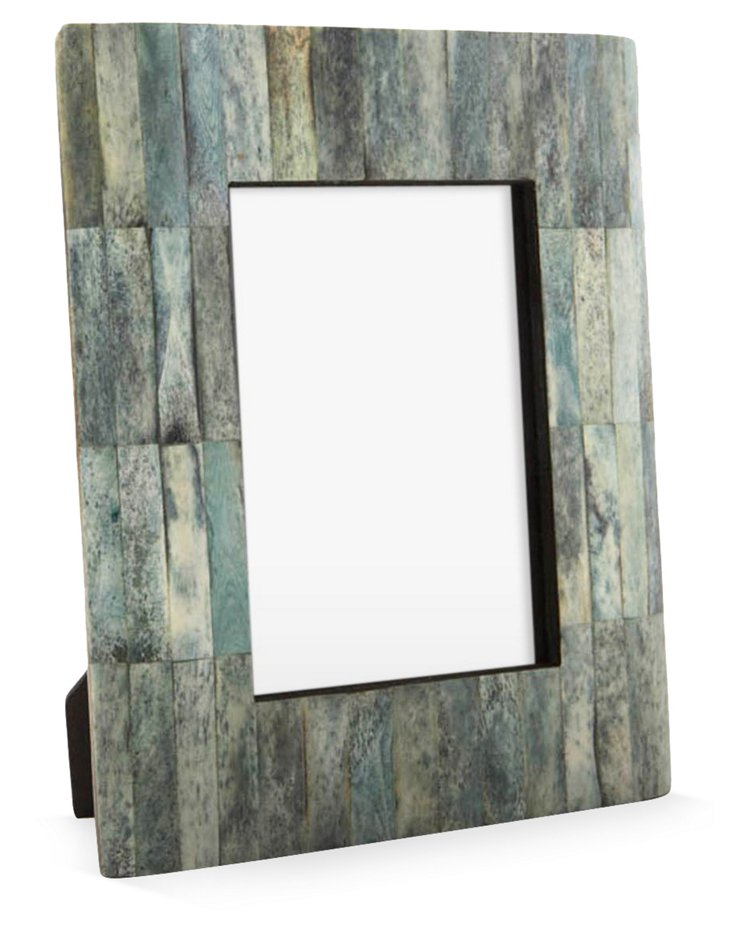 Beveled Bone Frame, 5x7, Jade