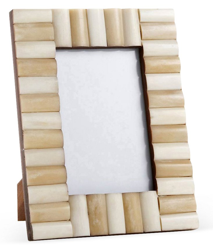 Rolled Bone Frame, 4x6, Cream