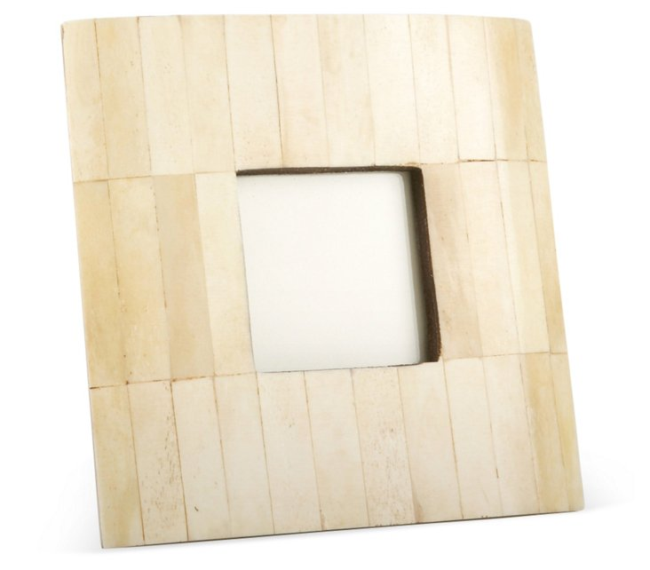 Beveled Bone Frame, 3x3, Cream