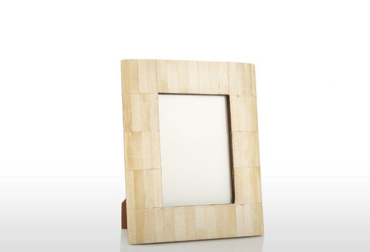 Beveled Bone Frame, 5x7, Natural