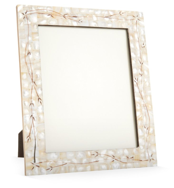 Engraved Mother-of-Pearl Frame, 8x10