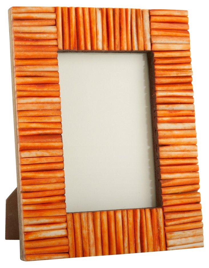 Matchstick Bone Frame, 4x6, Orange