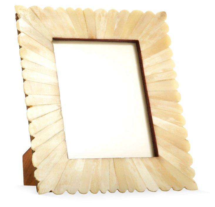 Scalloped Bone Burst Frame, 5x7, Natural