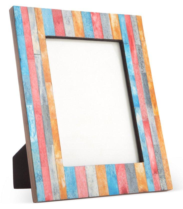 Striped Bone Frame, 4x6, Multicolor