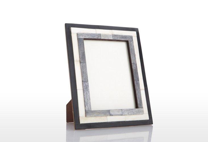 Step Bone Frame, 4x6, Gray/White
