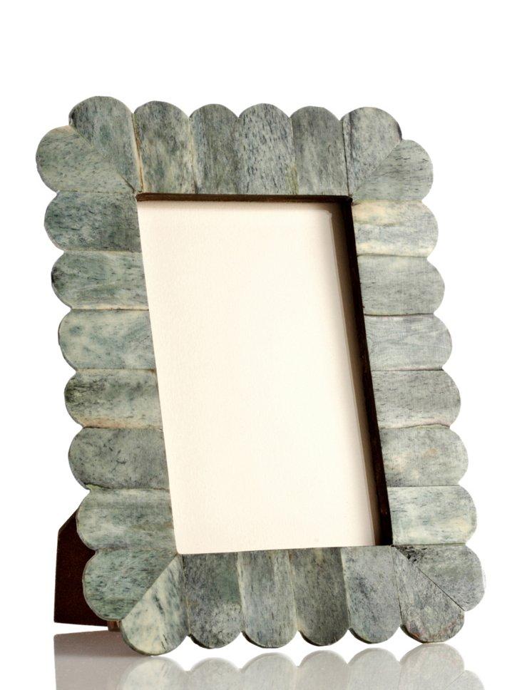 Arch Scalloped Bone Frame, 4x6, Jade
