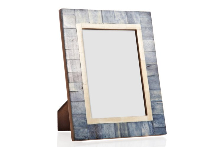 Tiled Bone Frame, 5x7, Deep Sea Blue