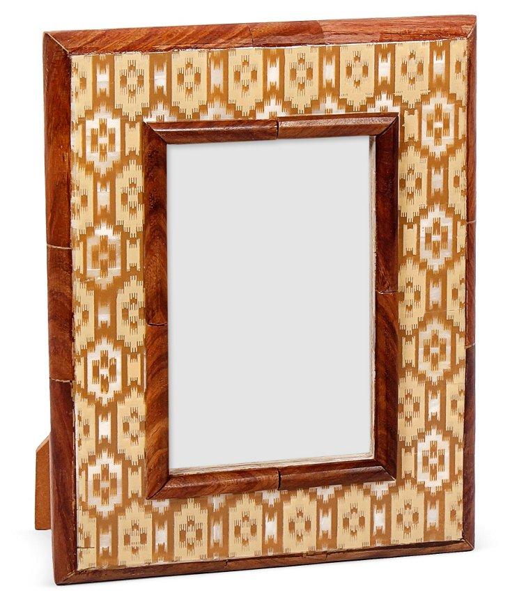 Istanbul Bone Frame, 4x6, Brown