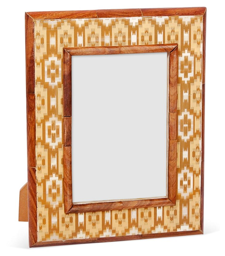Istanbul Bone Frame, 5x7, Brown