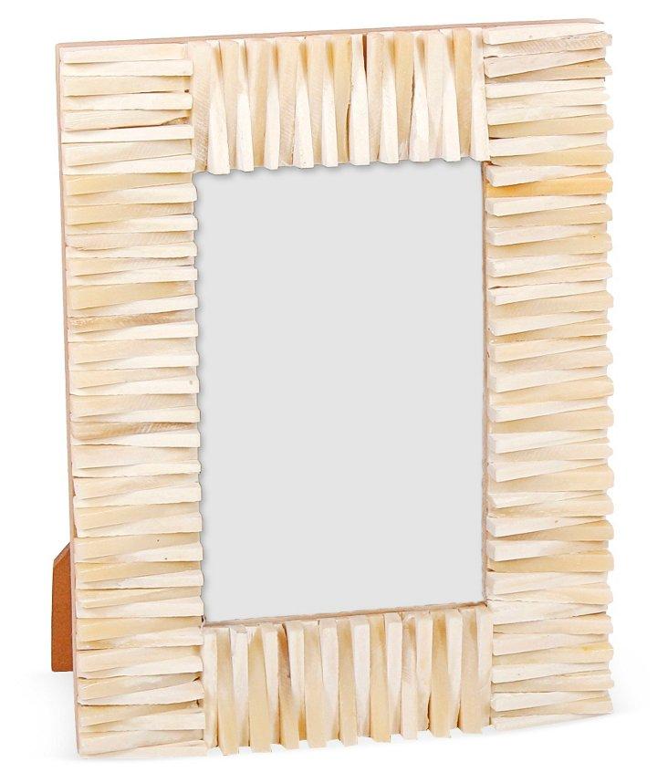 Jagged Edge Frame, 4x6, White