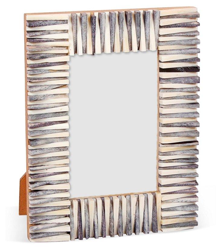 Jagged Edge Frame, 4x6, Gray