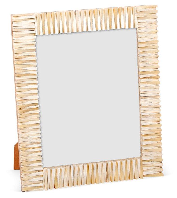 Jagged-Edge Frame, 8x10, White