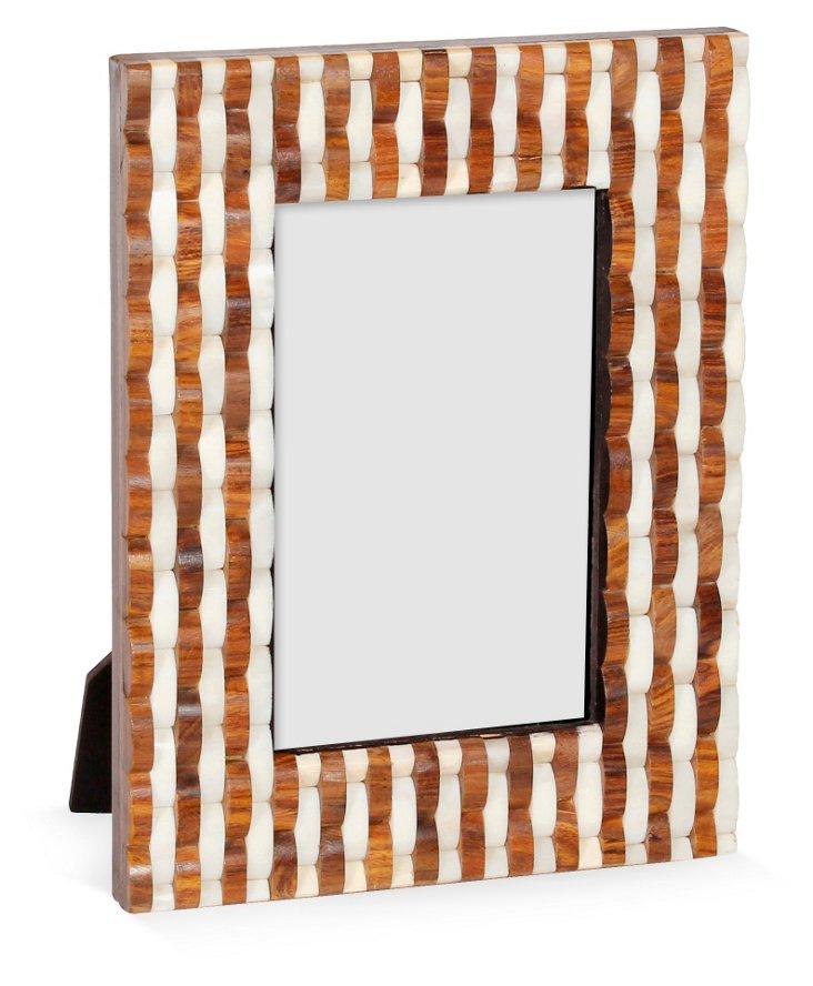 Bone & Sheesham Frame, 4x6, Brown