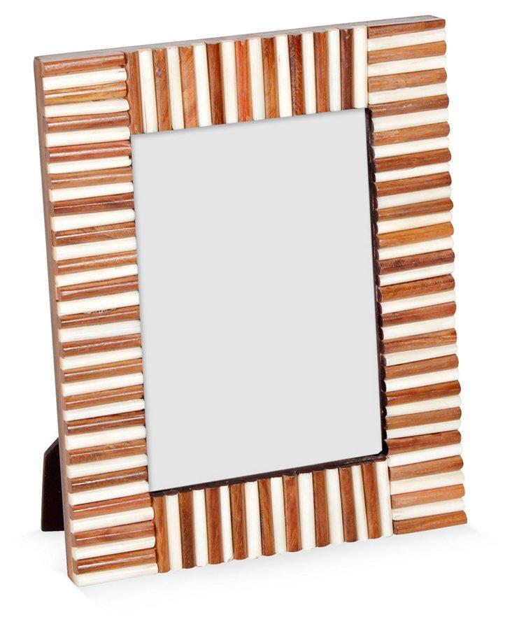 Bone & Sheesham Matchstick Frame, 5x7