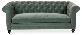 Rockport Chesterfield Sofa, Sage Velvet   One Kings Lane   Brands | One  Kings Lane