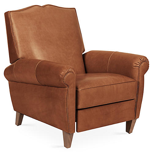 Hartford Club Recliner, Saddle Leather