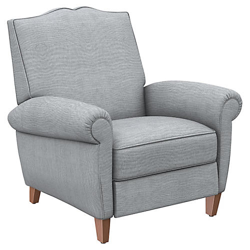 Hartford Club Recliner, Gray Linen