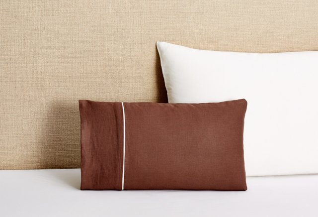 Lucia Accent Pillow with Insert, Brown