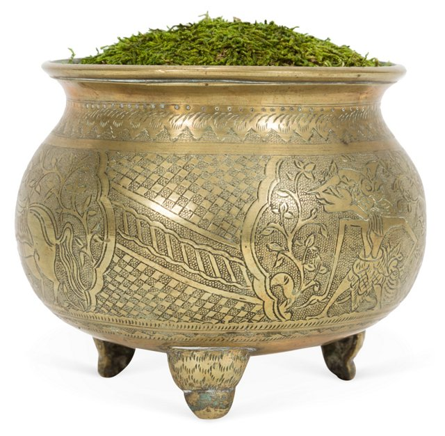 Etched Brass Bowl