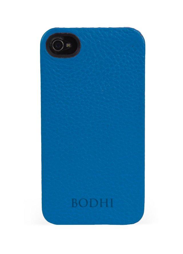 Leather iPhone Case, Cobalt
