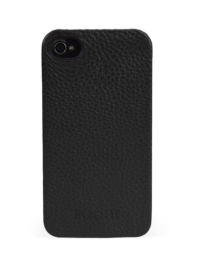 Leather iPhone Case, Black