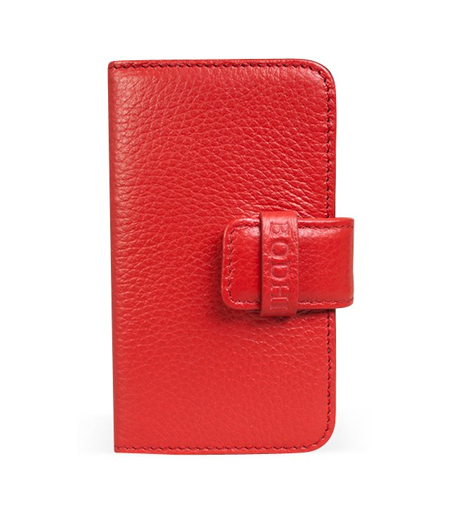 Leather iPhone Wallet, Red